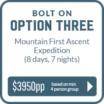 Bolt on Three - Mountain First Ascent