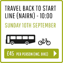 Travel back to Start Line (Nairn) Sunday 10th Sept 10:00 - Person and Bike