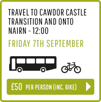 Travel to Nairn and Bikes to Cawdor Castle Transition Friday 7th Sept 12:00 - Person and Bike