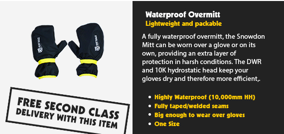 Snowdon Waterproof Overmitt - Black/Reflect