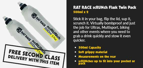 Rat Race scRUNch Flask - 500ml - Twin Pack