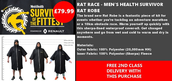 MH Rat Robe - Black/Grey
