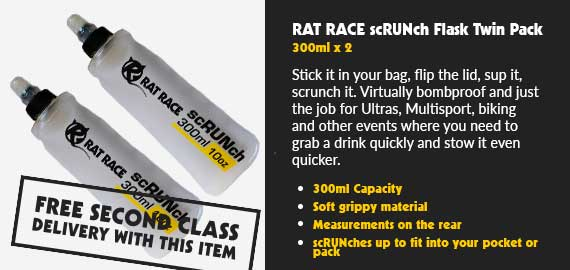 Rat Race scRUNch Flask - 300ml - Twin Pack